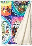 Liquid Blue Men's Hippy Collection Tie Dye Warm Coral Fleece Throw Blanket, multi, 50' X 60'
