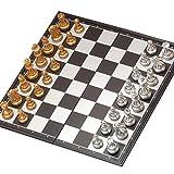 LTCTL ajedrez Juego De Ajedrez De Viaje Magtic para El Juego De Ajedrez Plegable Plástico con Piezas De Ajedrez De Oro Y Plateado para Niños Juego de ajedrez (Color : Chess Set)