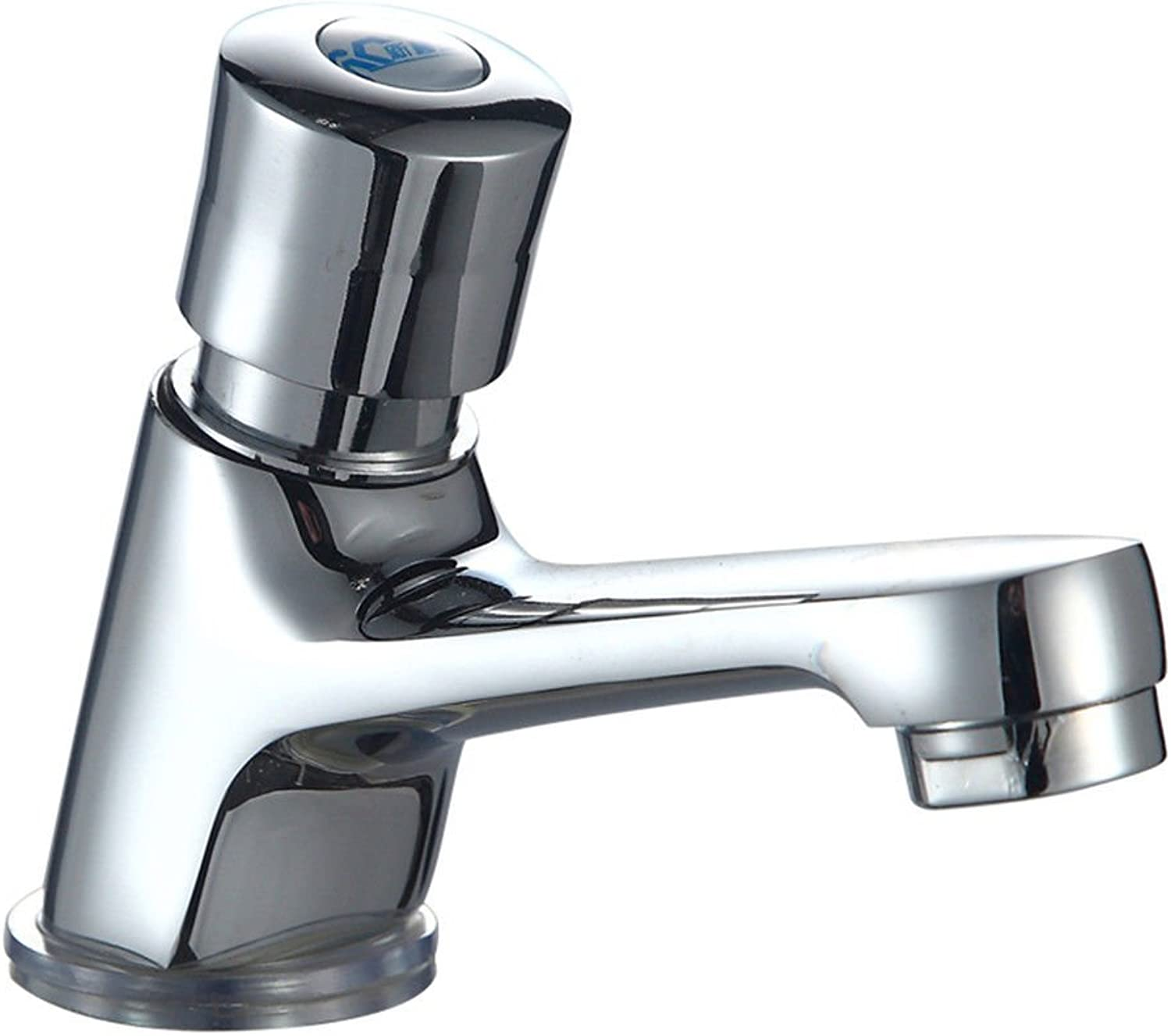 Oudan Basin Mixer Tap Bathroom Sink Faucet The copper basin faucet single cold push delay switch on the bathroom sink public places