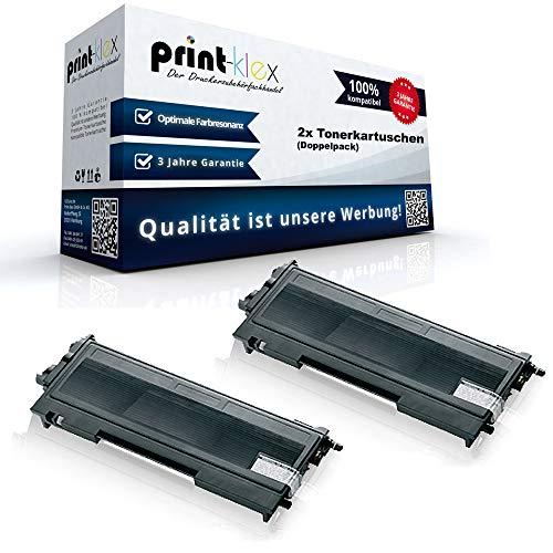 2X Print-Klex Alternative Tonerkartuschen kompatibel für Brother HL 2020 HL 2030 HL 2030 R HL 2032 HL 2032 DN HL 2040 TN 2000 TN2000 Black XXL Doppelpack - Toner Plus Serie