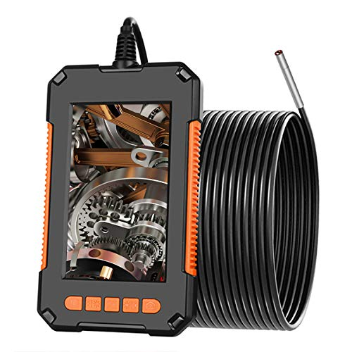 DDENDOCAM Industriellt endoskop inspektionskamera 4,3 tum skärm 1080P HD digital boroskop kamera 3,9 mm vattentät ormkamera med LED-lampor, 2 600 mAh batteri, halvstyv kabel, 32 GB TF-kort