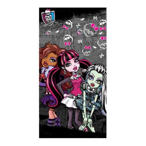 Toalla Monster High Draculaura, Frankie Stein y Clawdeen Wolf