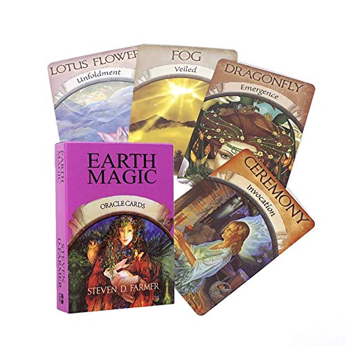 Earth Magic Oracle Cards Tarocchi Deck Cards Guidance Divination Fate Board Game Card Game Party Playing Card Game,Board Game,Only Tarot