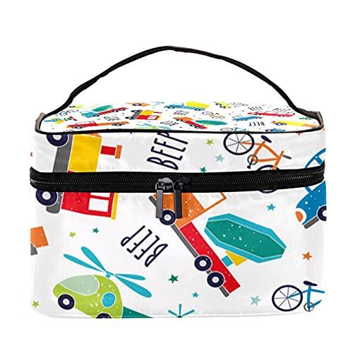 Bolsa de aseo colgante de viaje, organizador de cosméticos para mujeres, niñas, niños, modelo de avión de autobús