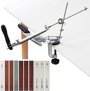 MOVIRON Professional Knife Sharpener Knife Sharpening Kit System, 360° Flip Design, Rotation Fixed-Angle, Stainless Steel ...