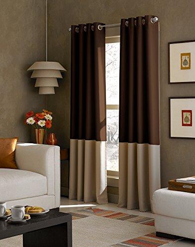 Curtainworks Kendall Curtain Panel, 63 inch, Brown/Tan