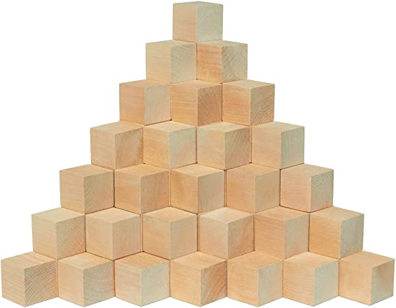 1 5 Inch Wooden Cubes Bag 36 Unfinished Plain Wooden Square Blocks Baby Shower Decorating Blocks For Puzzle Making Crafts And Diy Projects By Woodpecker Crafts Amazon Ca Home