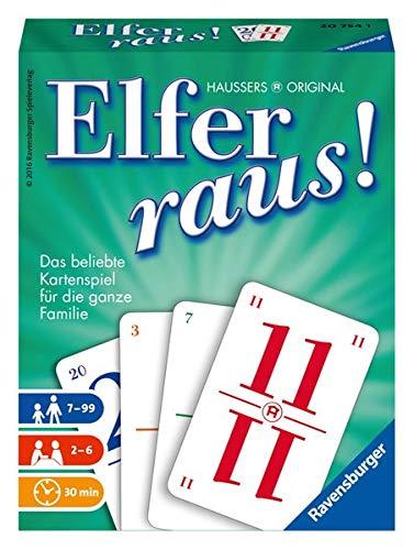 Ravensburger Elfer raus, Kartenspiel und Gesellschaftsspiel, Familienspiel für 2 - 6 Spieler, Spiel ab 7 Jahre