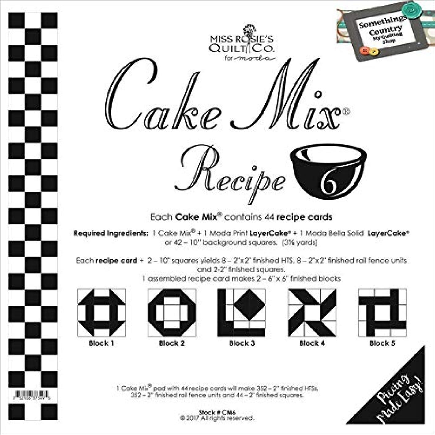 Moda Cake Mix Recipe #6 ~44 recipe cards will make 352 2