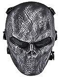 Coofit Plein crâne de crâne de masque Airsoft...