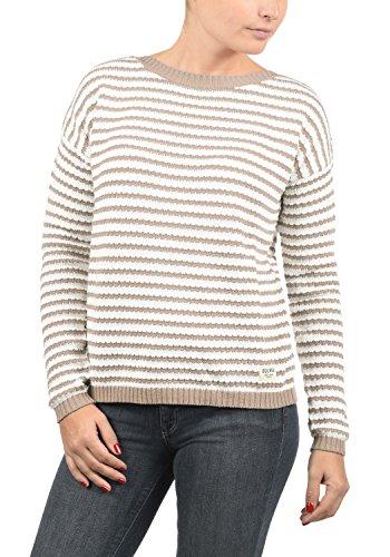 DESIRES Hilde Damen Winter Strickpullover Troyer Grobstrick Pullover, Größe:S, Farbe:Simple Taupe (0162)