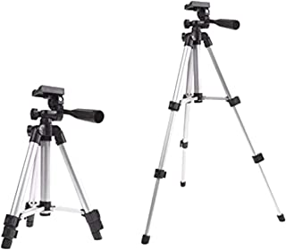 CP BIGBASKET - 3110 Portable and Foldable Camera - Tripod with Mobile Clip Holder Bracket, Stand with 3-Dimensional Head 150 gm (Black)
