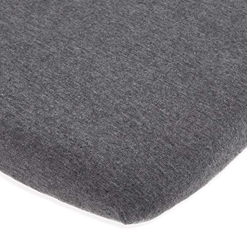 Bassinet Fitted Sheet for Baby Beside Dreamer Bedside Sleeper and Chicco Next2Me – Fits Perfectly on 20 x 33 Mattress – Snuggly Soft Jersey Cotton – Dark Grey
