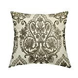 rfy9u7 Throw Pillow Covers, Linen Damask,Browns, Pillow Covers,Funny Pillows,Throw Pillows,Cushion Covers,Slipcovers,Home Decor,Accent Pillows, 18x18 Inch