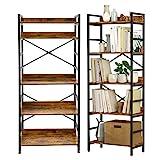 Suaylla 5 Tier Adjustable Tall Bookshelf,Open...