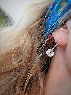 ꧁ PICCOLE CREOLE A SPIRALE ꧂ orecchini rotondi con piccole spirali pendenti