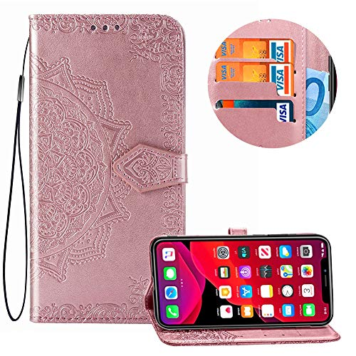 Glitter Wallet Case for Huawei P30 Pro with Wrist Strap,QFFUN Luxury Bling Magnetic Closure Folio Stand Feature PU Leather Phone Cases Flip Cover Bumper and Screen Protector Black