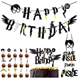 Wizard Inspired Cupcake Toppers BETOY 18PCS Harry Potter Inspired Cupcake Toppers cumplea�...