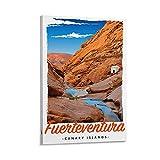 QIQIBABA Fuerteventura Kanarieninsel-Poster, Kunstdruck auf