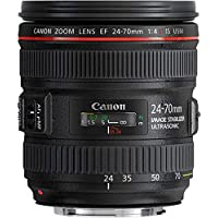 Canon EF 24-70mm f/4L IS USM - Objetivo para Canon (Distancia Focal 24-70mm, Apertura f/2.8-22, Zoom óptico 2.8X,estabilizador, diámetro: 77mm) Negro