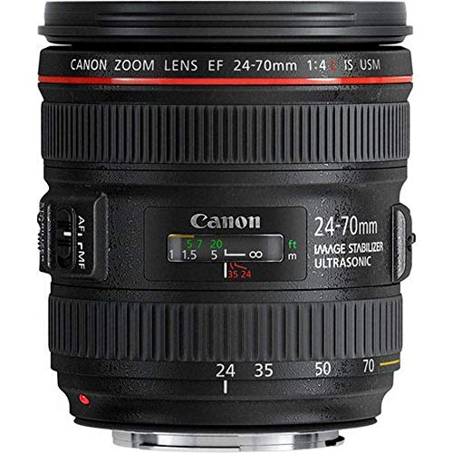 Canon Obiettivo con Zoom, EF 24-70 mm, f/4L IS USM SLR, Nero