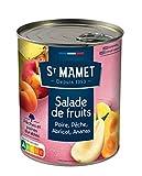 ST MAMET Salade de fruits Poire, Pêche, Abricot, Ananas 850g