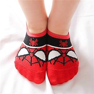 Calcetines Avenger Baby Boys Marvel Calcetines De Algodón para Niños Calcetines Spiderman Superman Batman Calcetines De Baloncesto para Niños