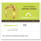 Home Centre E-Gift card is valid for one year from the date of issue. E-Gift cards are valid for one time redemption only. This E-Gift card is redeemable at Home Centre stores, Lifestyle, select Max and Melange stores in India and not allowed for red...