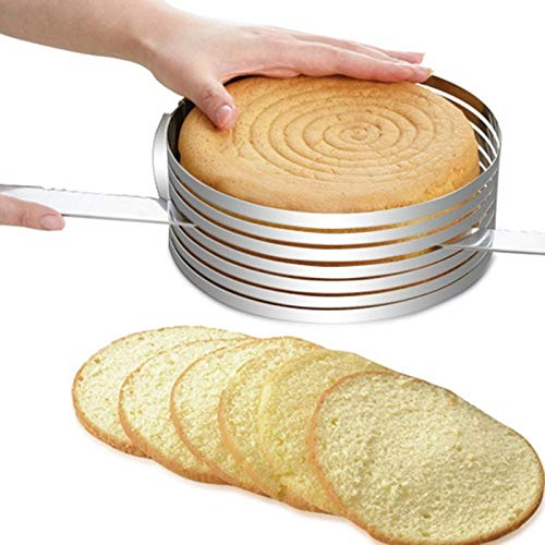 Verstellbare 15,2 cm - 30,5 cm Edelstahl Tortenring Schneider Kuchen Werkzeug DIY Kuchen Ring Küche Backen Werkzeug Kuchen Layer Schneider Werkzeug 6-8 inch