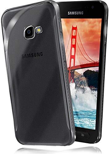 moex Aero Case für Samsung Galaxy Xcover 4 - Hülle aus Silikon, komplett transparent, Handy Schutzhülle Ultra dünn, Handyhülle durchsichtig - Klar