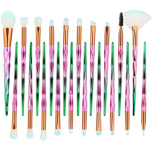Hshing Multifonction Pinceaux Maquillage Design Magnifique Performances Durables Ensemble Kit Pinceaux Maquillage Essentiel La Conception En Spirale De La Poignée 20PCS (F (1pcs Feuilletée))