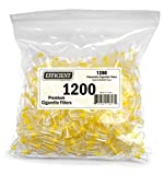 Efficient Disposable Cigarette Filters & Quit Smoking Filter Tips & Holders - Bulk Economy Pack (1200 Per Pack)