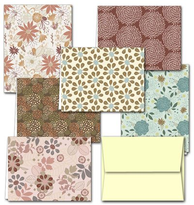 Note Card Cafe All Occasion Greeting Cards with Off White Ivory Envelopes   72 Pack   Floral Frenzy Design   Blank Inside, Glossy Finish   for Greeting Cards, Occasions, Birthdays