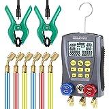 WZ-0031 Pressure Gauge Refrigeration Digital Vacuum Pressure Manifold Tester Meter Heating Ventilation and Air Conditioning Temperature Tester Valve Tool Kit
