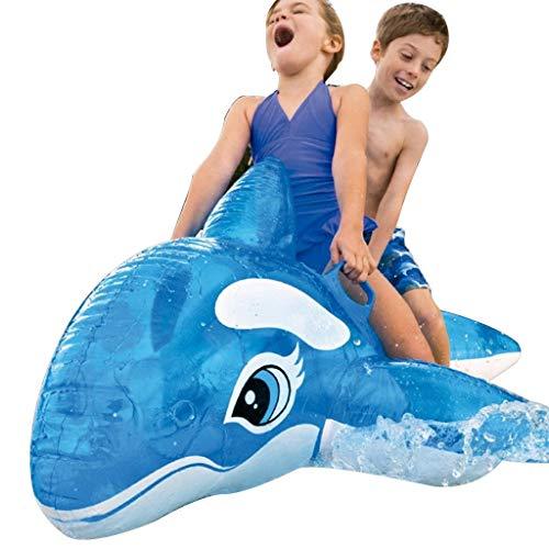 Zwemmen & baden zwemring blauwal drijvende reeks water opblaasbaar zwembed water opblaasbare lounge stoel zwemmen luchtkussen zwembad speelgoed zonneligstoel belastbaarheid 70 kg