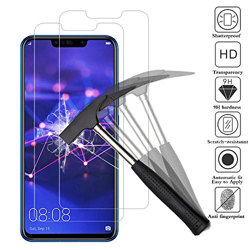 ANEWSIR [2 Piezas Protector de Pantalla para Huawei Mate 20 Lite, Cristal Templado Huawei Mate 20 Lite Protector Pantalla [6.3 Pulgadas] [9H Dureza] [Alta Definicion]