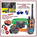 Dogtra 2702T&B Two Dogs Remote Training and Beeper Collar - 1 Mile Range, Fully Waterproof, Rechargeable, Shock, Vibration - 2 Free REPLACMENT Straps and SPC Dog Training System