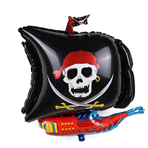 Zonfer Aluminiumfolienballon Piraten-schiffs-Ballon-Halloween-Party-dekor-folienballon-Partei-Dekoration