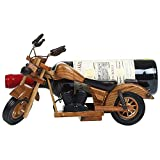 N\A Botellero de Vino Titular 1 PC de la motocicleta de madera de vino tinto estante colgante de madera maciza botella de vino rack vintage artesanos personalidad estante de vino