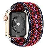 Cinturino Scrunchie Compatibile per Apple Watch 40mm 38mm 44mm 42mm Bohemia Ethnic Pattern Cintura Elastica Cinturino per iWatch Serie 6 se 5 4 3 2 1