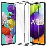 LK Schutzfolie Kompatibel mit Samsung Galaxy A51 & A52 Panzerglas, 9H Festigkeit Galaxy A51 Panzerglas, HD Klar A52 Schutzfolie, Kratzen Blasenfrei 2.5D Rand Einfacher Montage
