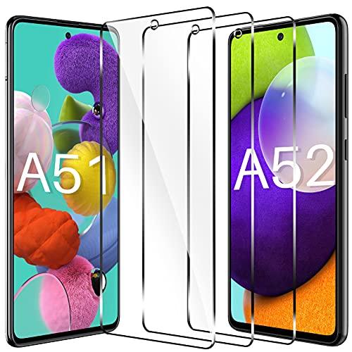 LK Schutzfolie Kompatibel mit Samsung Galaxy A51 und A52 Panzerglas, 9H Härte Galaxy A51 Panzerglas, HD Klar A52 Schutzfolie, Kratzen Blasenfrei 2.5D Rand Einfacher Montage