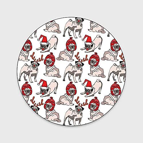 WIVION Alfombra De Área De Verano, Linda Alfombra De Perro De Dibujos Animados Extra Grande Pequeña Mediana Tamaño Rectangular Alfombrilla para Sala De Estar Dormitorio Cocina Mesita De Noche,L,60cm