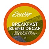 Brooklyn Beans Breakfast Blend Decaf Coffee Pods, Compatible with 2.0 K-Cup Brewers, 40 Count