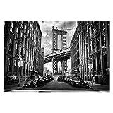 Foto-Tapete selbstklebend - Manhattan Bridge in America - Wandbild 320 x 480 cm