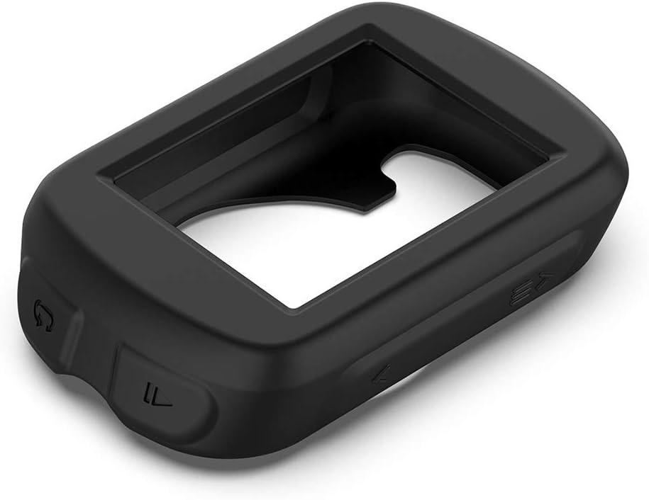 Rouge perfk Coques pour Garmin Edge 830 Smartwatch Bumper Coque de Protection Silicone pour Garmin Edge 130