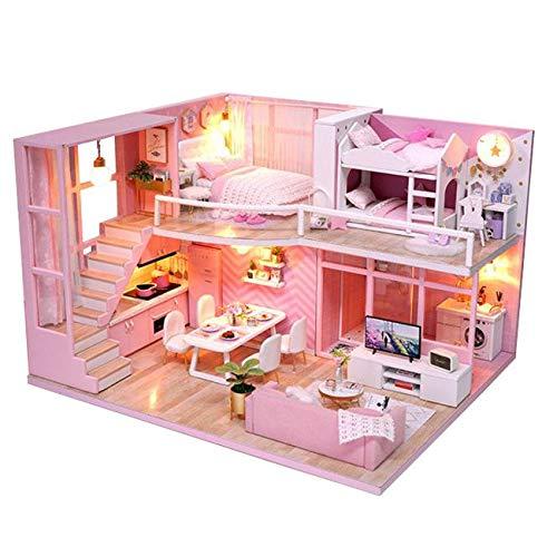 [リトルスワロー] パステル ピンク リアルでかわいい小物が一杯 ミニチュア ドール ハウス DIY 手作り 模型 キット セット (エンジェルルーム)
