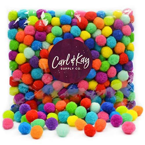 Carl /& Kay Pompoms for Crafts Craft Pom Poms for Crafts 250 Pcs 1 Inch Pom Poms in Bright /& Bold Assorted Colors Pom Pom for Crafts Craft Pom Pom Balls