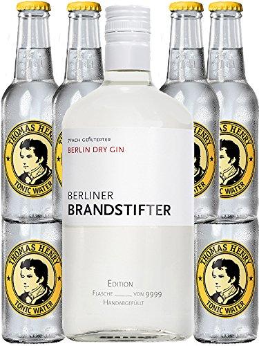 Berliner Brandstifter Dry Gin Deutschland 0,7 Liter + 6 Thomas Henry Tonic 0,2 Liter