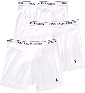 Polo Ralph Lauren Classic Fit 100% Cotton Boxer Briefs - 3 Pack (RCBBP3) L/White